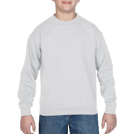 Heavy Blend™ Youth Crewneck Sweatshirt in White von Gildan (Artnum: G18000K