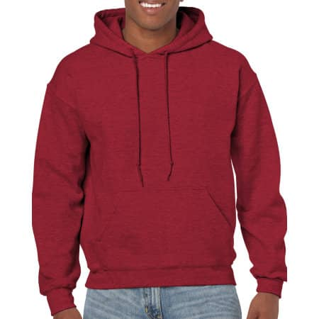 Heavy Blend™ Hooded Sweatshirt in Antique Cherry Red (Heather) von Gildan (Artnum: G18500
