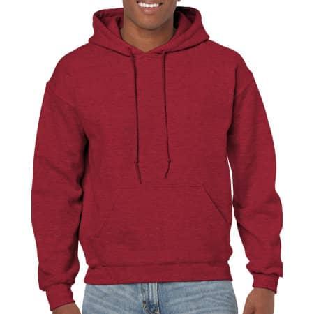 Heavy Blend™ Hooded Sweatshirt in Antique Cherry Red (Heather) von Gildan (Artnum: G18500