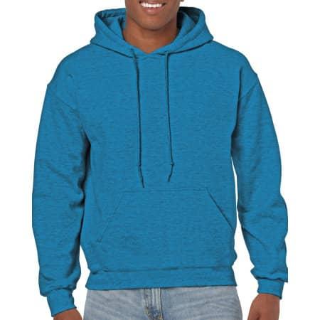 Heavy Blend™ Hooded Sweatshirt in Antique Sapphire (Heather) von Gildan (Artnum: G18500