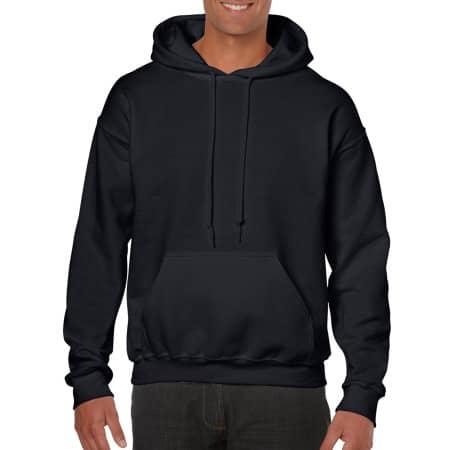 Heavy Blend™ Hooded Sweatshirt in Black von Gildan (Artnum: G18500
