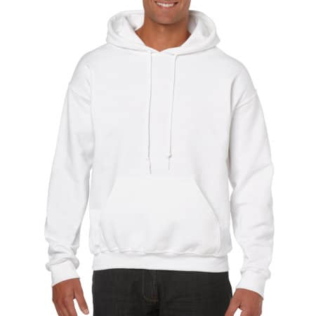 Heavy Blend™ Hooded Sweatshirt in White von Gildan (Artnum: G18500