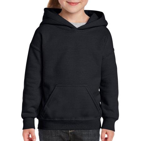 Heavy Blend™ Youth Hooded Sweatshirt in Black von Gildan (Artnum: G18500K