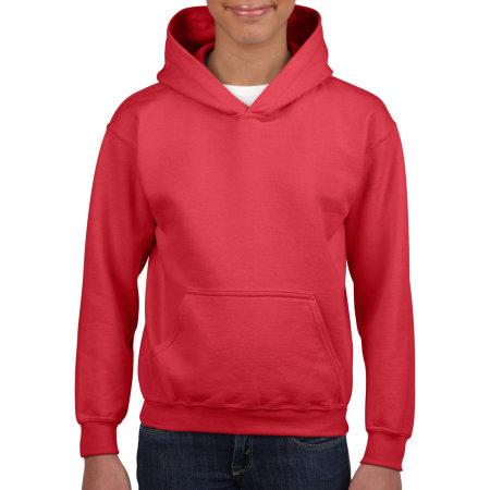 Heavy Blend™ Youth Hooded Sweatshirt in Red von Gildan (Artnum: G18500K