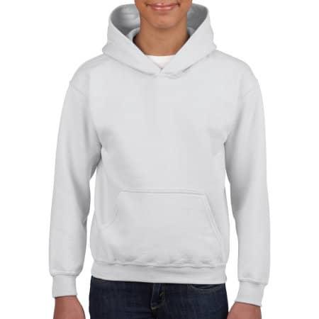 Heavy Blend™ Youth Hooded Sweatshirt in White von Gildan (Artnum: G18500K