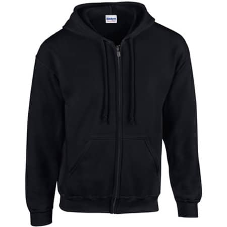 Heavy Blend™ Full Zip Hooded Sweatshirt in Black von Gildan (Artnum: G18600