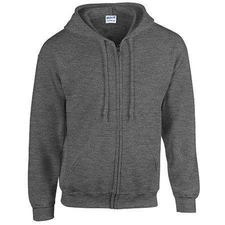 Heavy Blend™ Full Zip Hooded Sweatshirt in Dark Heather von Gildan (Artnum: G18600