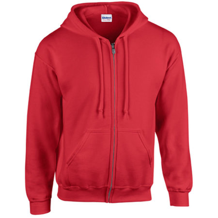 Heavy Blend™ Full Zip Hooded Sweatshirt in Red von Gildan (Artnum: G18600