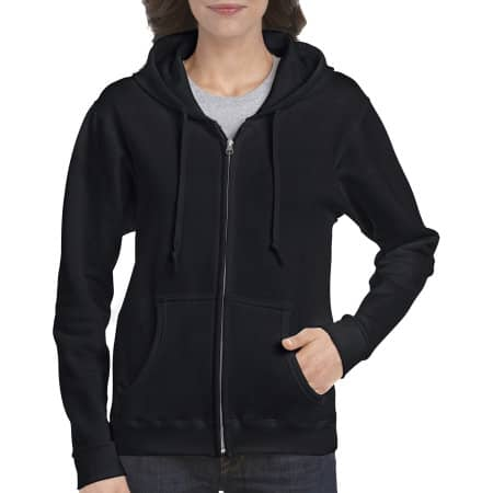 Heavy Blend™ Ladies` Full Zip Hooded Sweatshirt von Gildan (Artnum: G18600FL