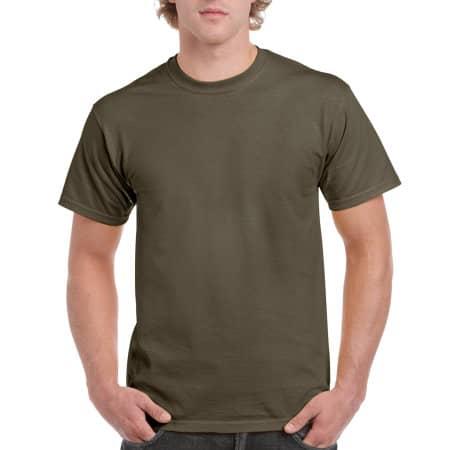Ultra Cotton™ T-Shirt in Olive von Gildan (Artnum: G2000
