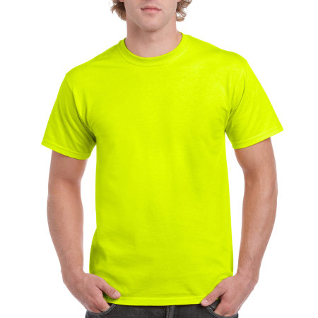 Ultra Cotton™ T-Shirt in Safety Green von Gildan (Artnum: G2000