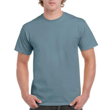 Ultra Cotton™ T-Shirt in Stone Blue von Gildan (Artnum: G2000
