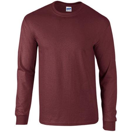 Ultra Cotton™ Long Sleeve T- Shirt in Maroon von Gildan (Artnum: G2400
