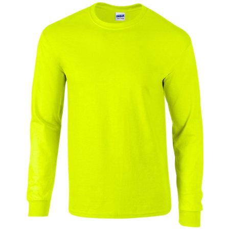 Ultra Cotton™ Long Sleeve T- Shirt in Safety Green von Gildan (Artnum: G2400