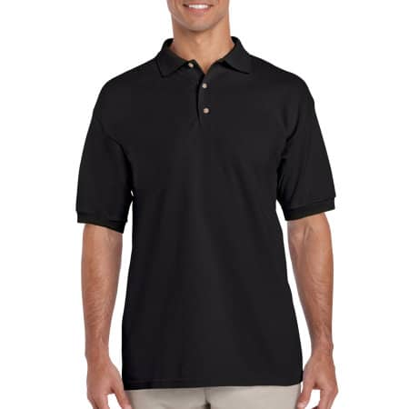 Ultra Cotton™ Piqué Polo in Black von Gildan (Artnum: G3800