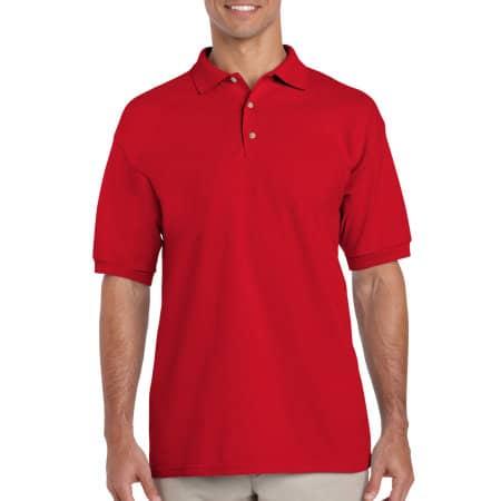 Ultra Cotton™ Piqué Polo in Red von Gildan (Artnum: G3800
