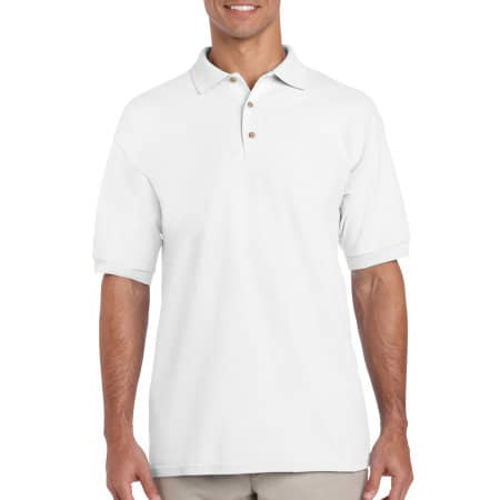 Ultra Cotton™ Piqué Polo in White von Gildan (Artnum: G3800
