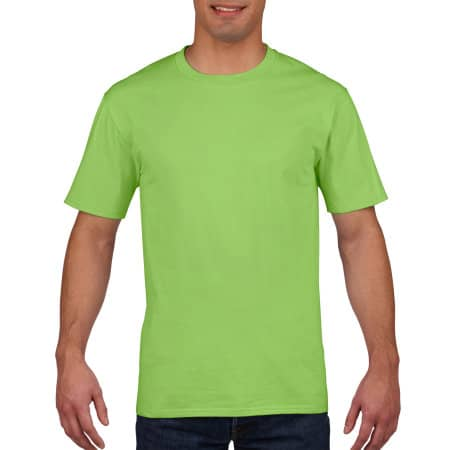 Premium Cotton® T-Shirt in Lime von Gildan (Artnum: G4100