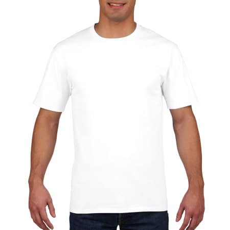Premium Cotton® T-Shirt in White von Gildan (Artnum: G4100