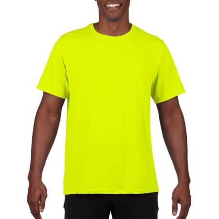 Performance® Adult T-Shirt in Safety Green von Gildan (Artnum: G42000