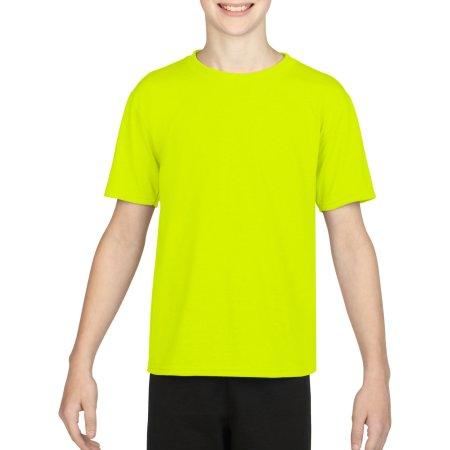 Performance® Youth T-Shirt in Safety Green von Gildan (Artnum: G42000K