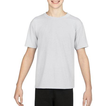 Performance® Youth T-Shirt in White von Gildan (Artnum: G42000K