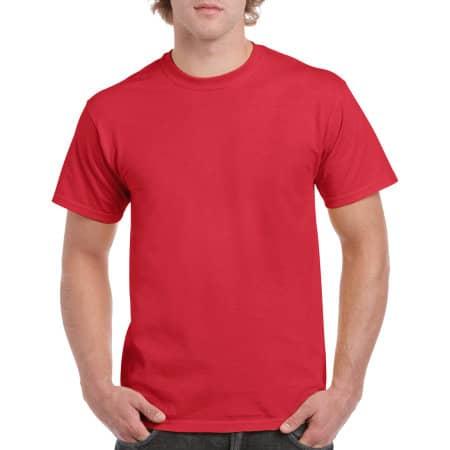 Heavy Cotton™ T- Shirt in Red von Gildan (Artnum: G5000