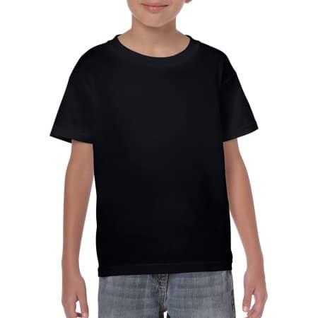 Heavy Cotton™ Youth T- Shirt in Black von Gildan (Artnum: G5000K