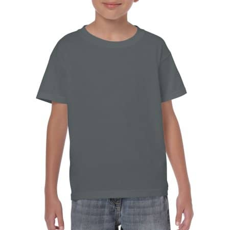 Heavy Cotton™ Youth T- Shirt in Charcoal (Solid) von Gildan (Artnum: G5000K