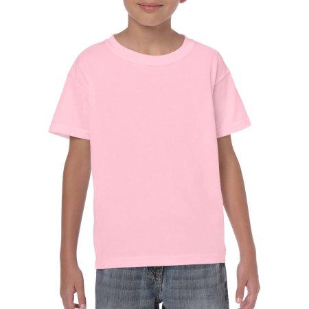 Heavy Cotton™ Youth T- Shirt in Light Pink von Gildan (Artnum: G5000K