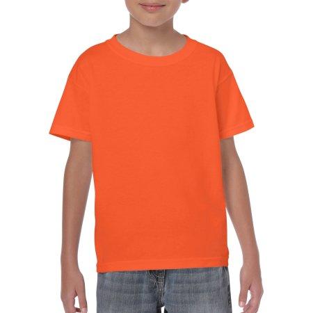 Heavy Cotton™ Youth T- Shirt in Orange von Gildan (Artnum: G5000K