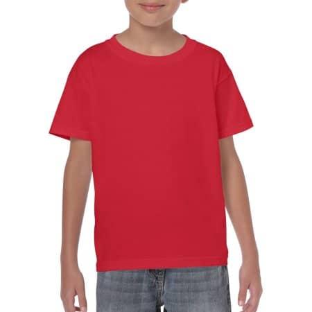 Heavy Cotton™ Youth T- Shirt in Red von Gildan (Artnum: G5000K