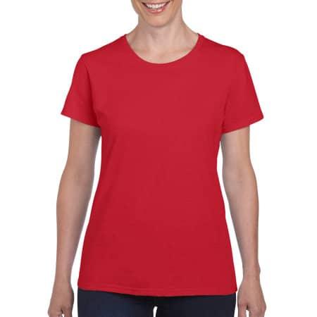 Heavy Cotton™ Ladies` T-Shirt in Red von Gildan (Artnum: G5000L
