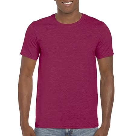 Softstyle® T- Shirt in Heather Cardinal von Gildan (Artnum: G64000