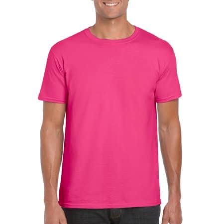 Softstyle® T- Shirt in Heliconia von Gildan (Artnum: G64000
