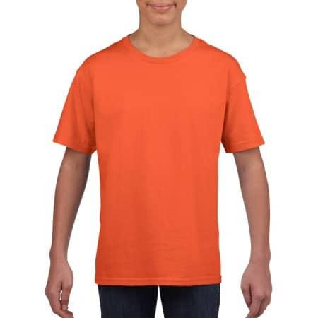 Softstyle® Youth T-Shirt in Orange von Gildan (Artnum: G64000K