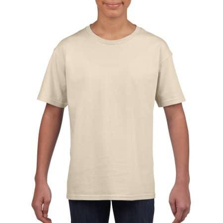 Softstyle® Youth T-Shirt in Sand von Gildan (Artnum: G64000K