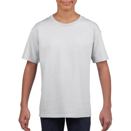 Softstyle® Youth T-Shirt in White von Gildan (Artnum: G64000K