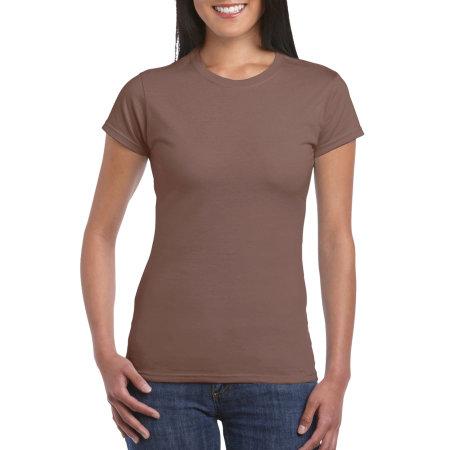 Softstyle® Ladies` T- Shirt in Chestnut von Gildan (Artnum: G64000L