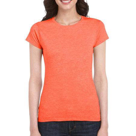 Softstyle® Ladies` T- Shirt in Heather Orange von Gildan (Artnum: G64000L