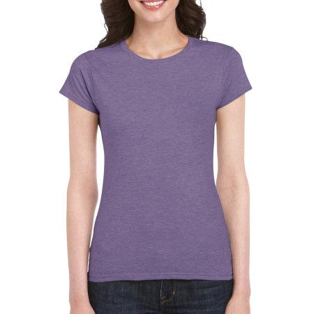 Softstyle® Ladies` T- Shirt in Heather Purple von Gildan (Artnum: G64000L