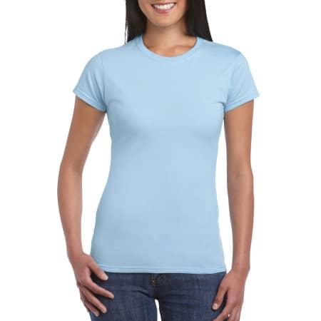 Softstyle® Ladies` T- Shirt in Light Blue von Gildan (Artnum: G64000L