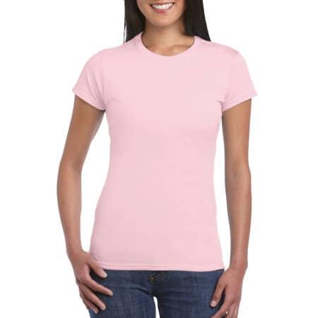 Softstyle® Ladies` T- Shirt in Light Pink von Gildan (Artnum: G64000L