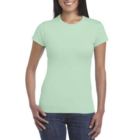 Softstyle® Ladies` T- Shirt in Mint Green von Gildan (Artnum: G64000L