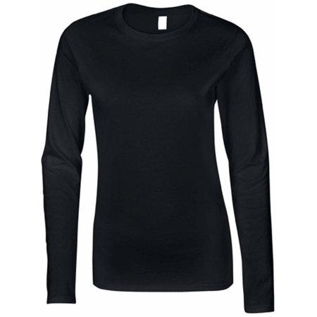 Softstyle® Ladies` Long Sleeve T-Shirt in Black von Gildan (Artnum: G64400L