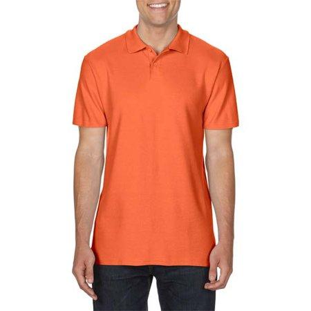Gildan Softstyle® Double Piqué Polo in Orange von Gildan (Artnum: G64800
