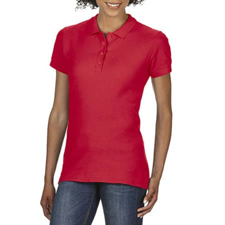 Gildan Softstyle® Ladies` Double Piqué Polo in Red von Gildan (Artnum: G64800L