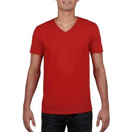 Softstyle® V-Neck T-Shirt in Red von Gildan (Artnum: G64V00