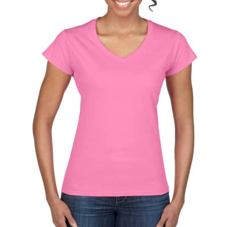 Softstyle® Ladies` V-Neck T-Shirt von Gildan (Artnum: G64V00L