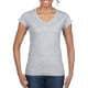 Thumbnail T-Shirts in Sport Grey (Heather): Softstyle® Ladies` V-Neck T-Shirt G64V00L von Gildan